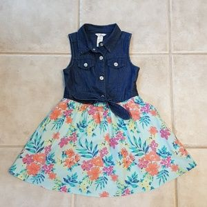 Guess Denim Dress with Floral bottom
